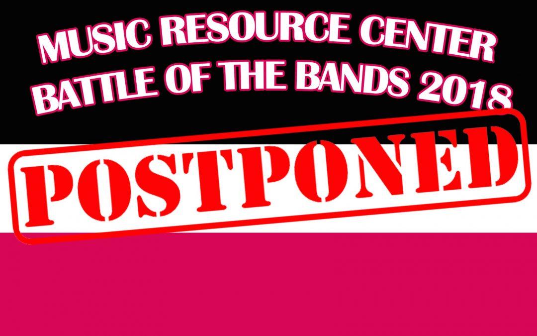POSTPONED – MRC Battle of the Bands 2018