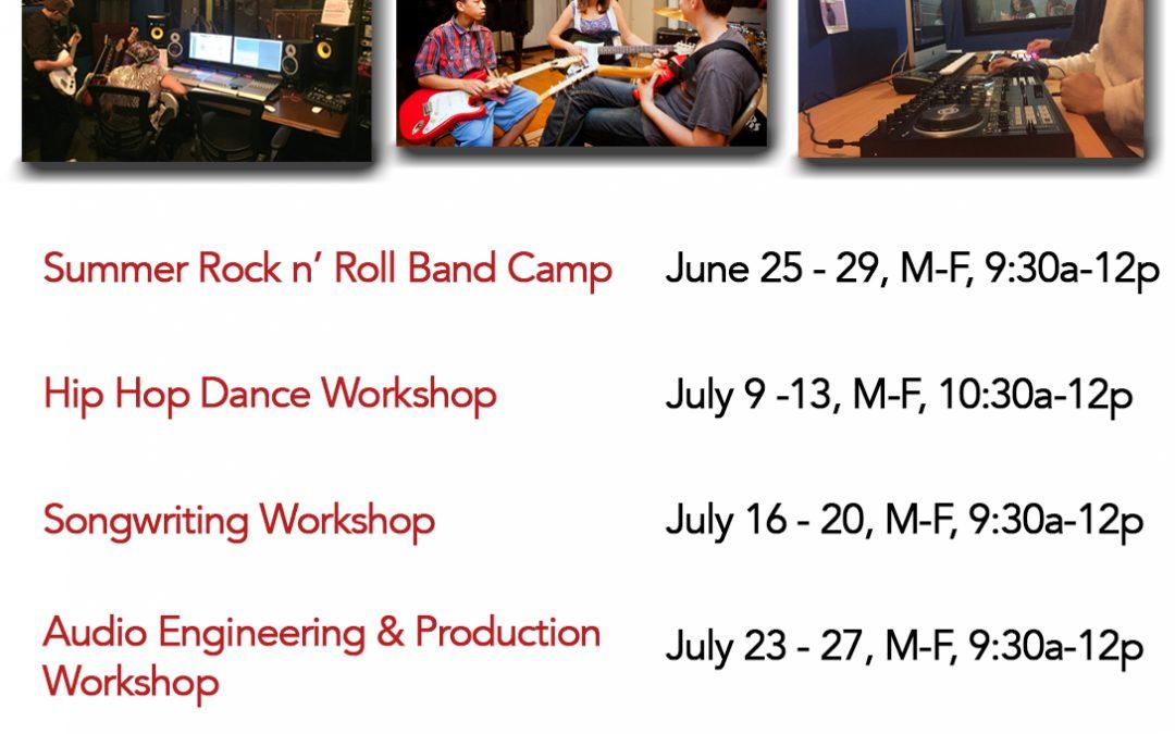 MRC Summer Workshops, June 25th – August 17th