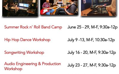 MRC Summer Workshops, June 25th – August 17th