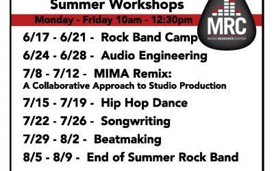MRC Workshops- Summer 2019