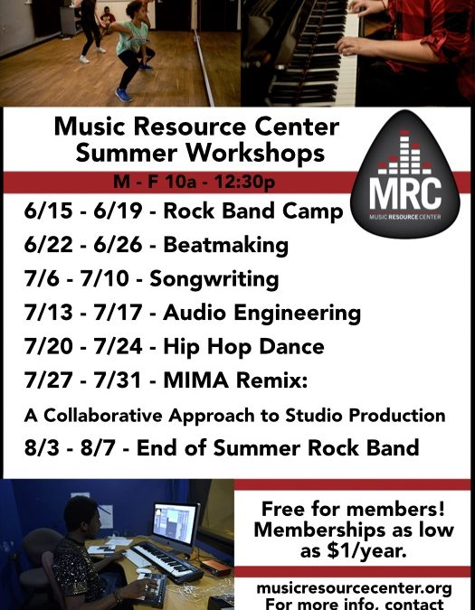 Cancelled-MRC Summer Workshops 2020