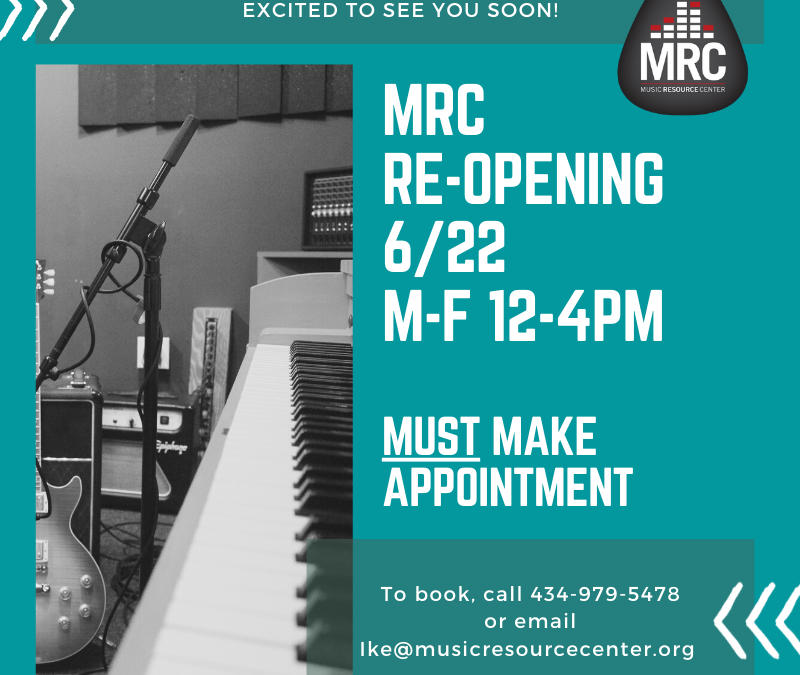 MRC Reopening June 22, 2020